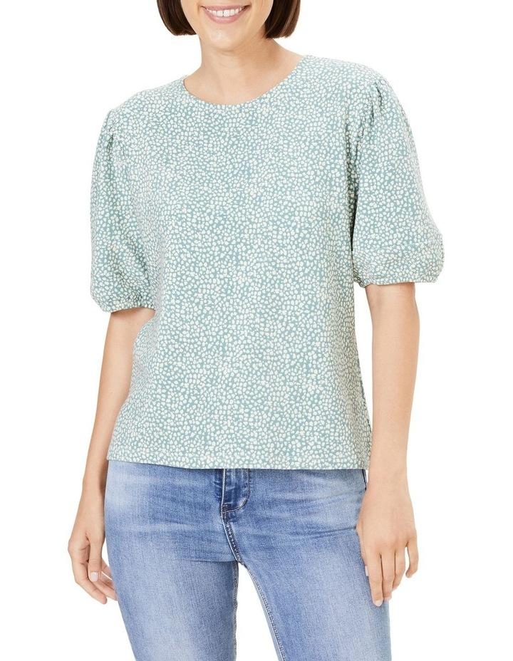Textured Puff Sleeve T Shirt image 1