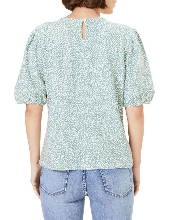 Textured Puff Sleeve T Shirt image 3
