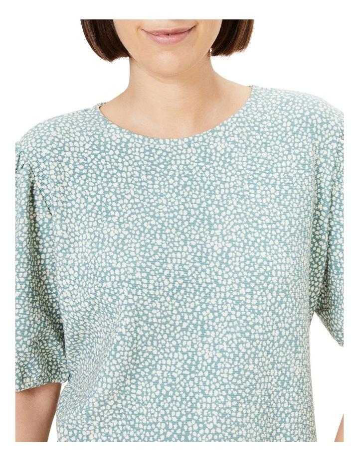 Textured Puff Sleeve T Shirt image 4