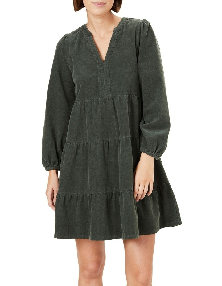 Cord Tiered Dress image 1