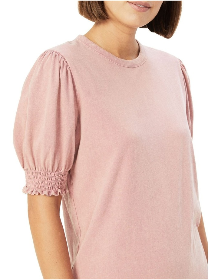 Acid Wash Puff Sleeve T Shirt image 4
