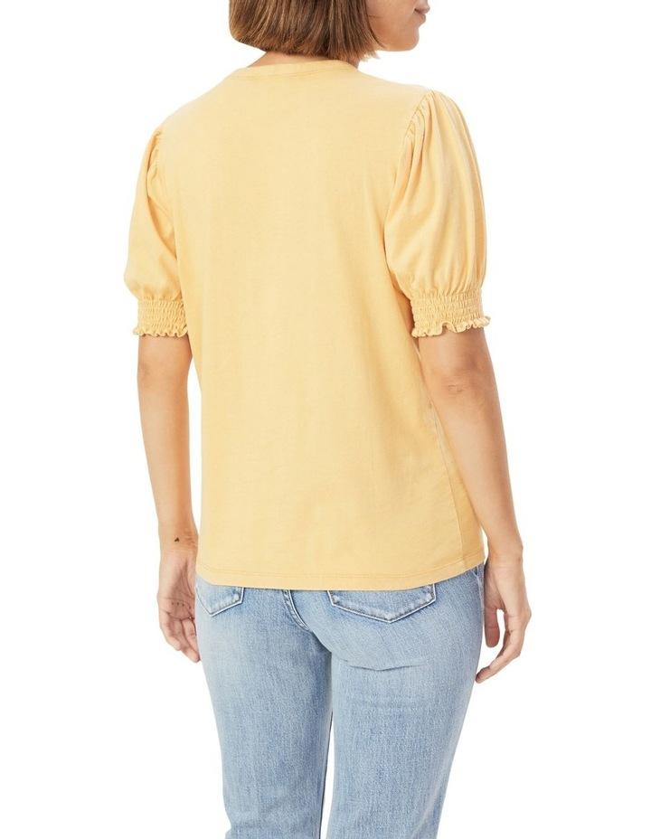 Acid Wash Puff Sleeve T Shirt image 3
