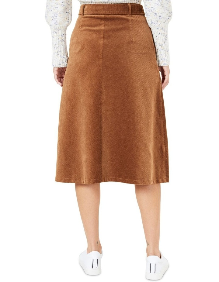 Cord Midi Skirt image 3