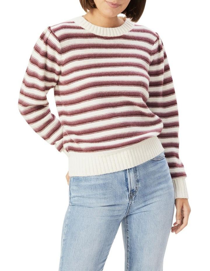 Stripe Puff Sleeve Knit image 1