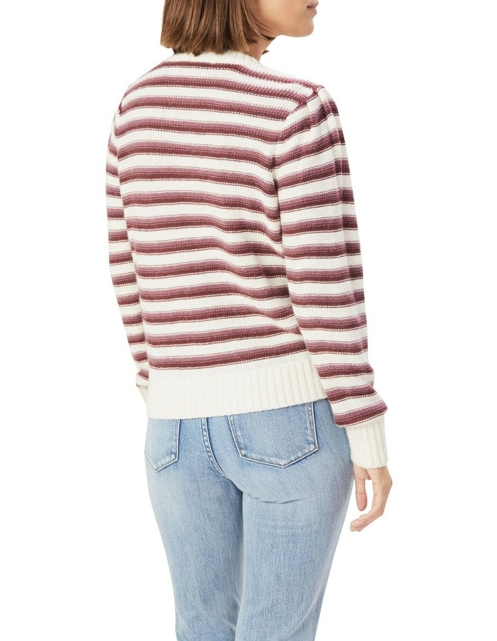 Stripe Puff Sleeve Knit image 3