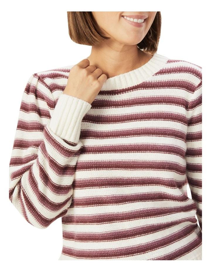 Stripe Puff Sleeve Knit image 4