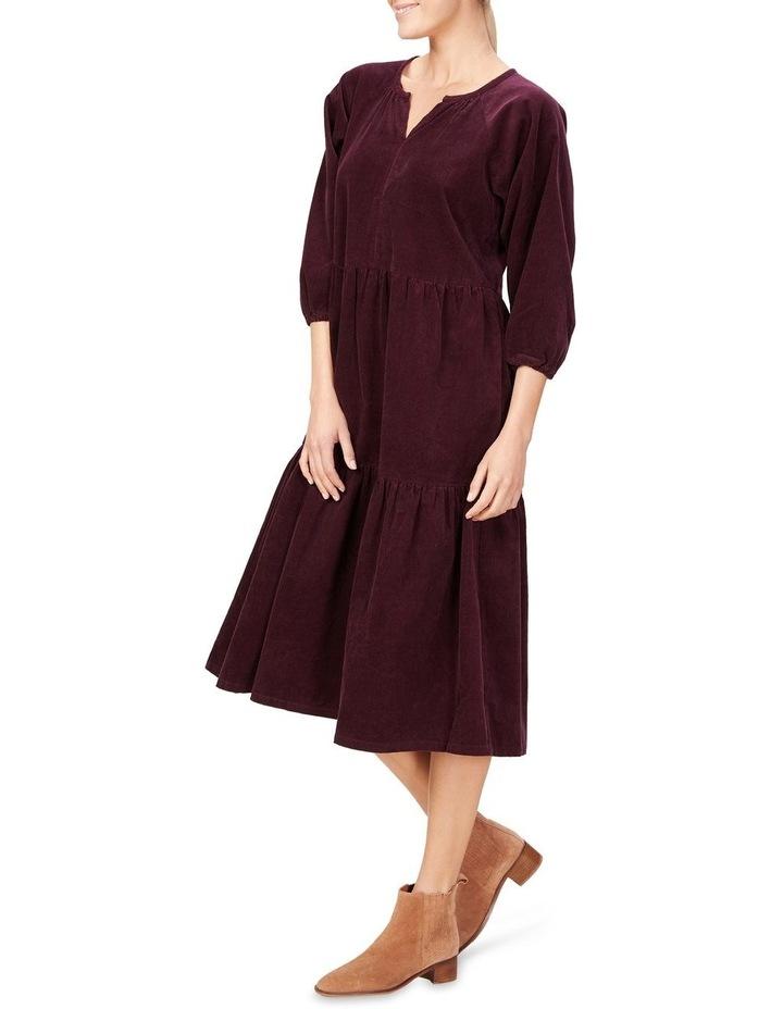 Cord Tiered Midi Dress image 2