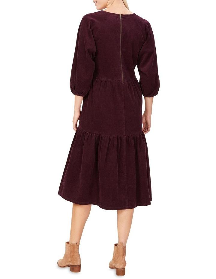 Cord Tiered Midi Dress image 3