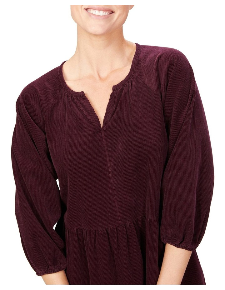 Cord Tiered Midi Dress image 4