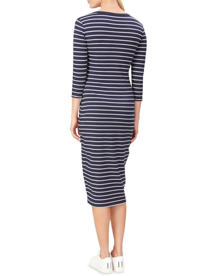 Jersey Stripe Midi Dress image 3