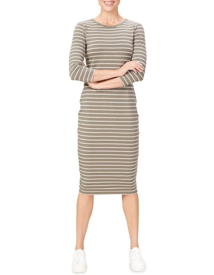 Jersey Stripe Midi Dress image 1