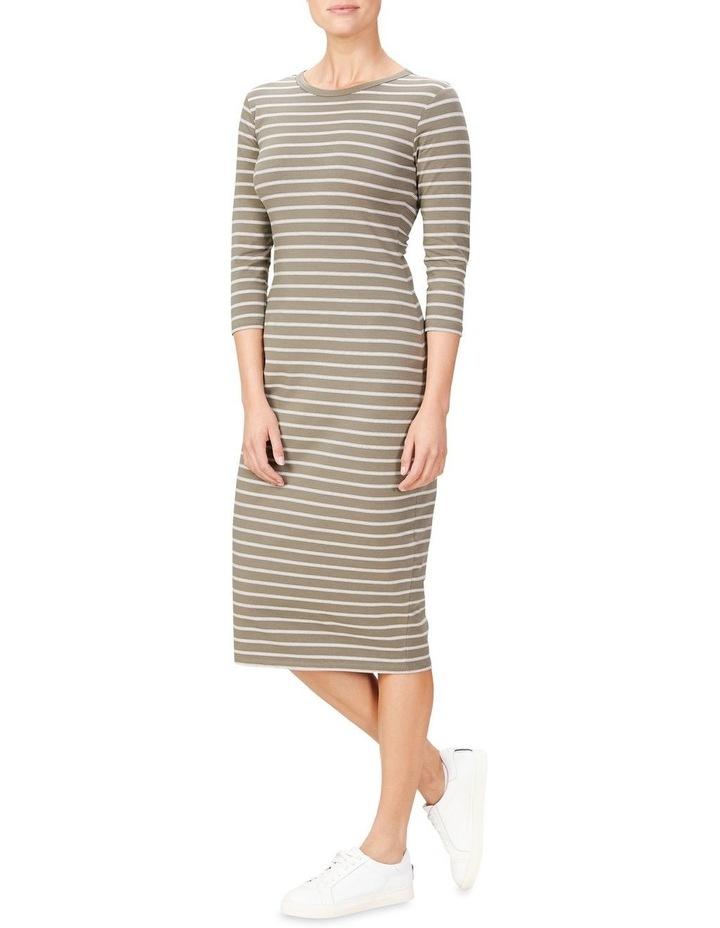 Jersey Stripe Midi Dress image 2
