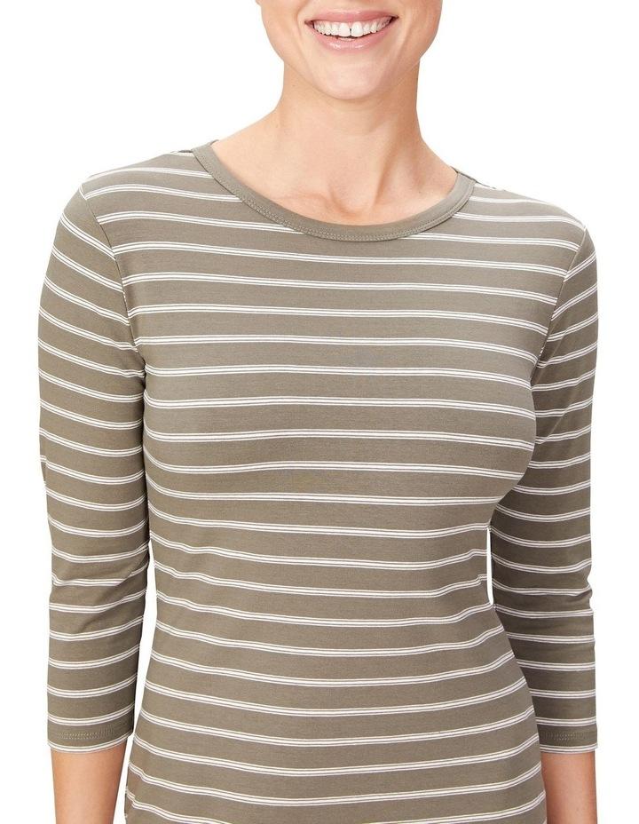 Jersey Stripe Midi Dress image 4