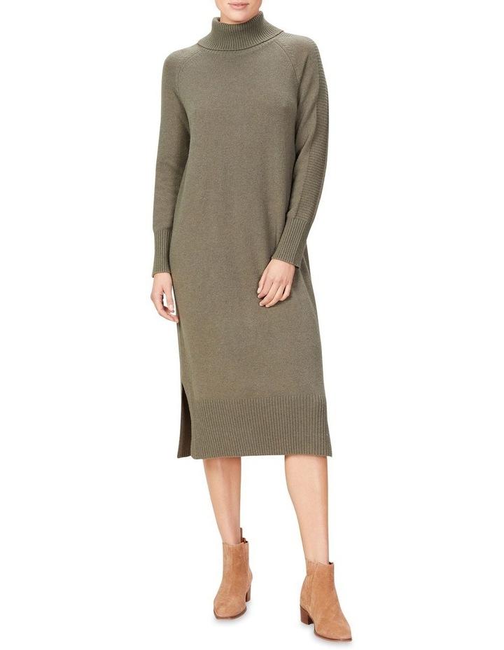 High Neck Knit Dress image 1