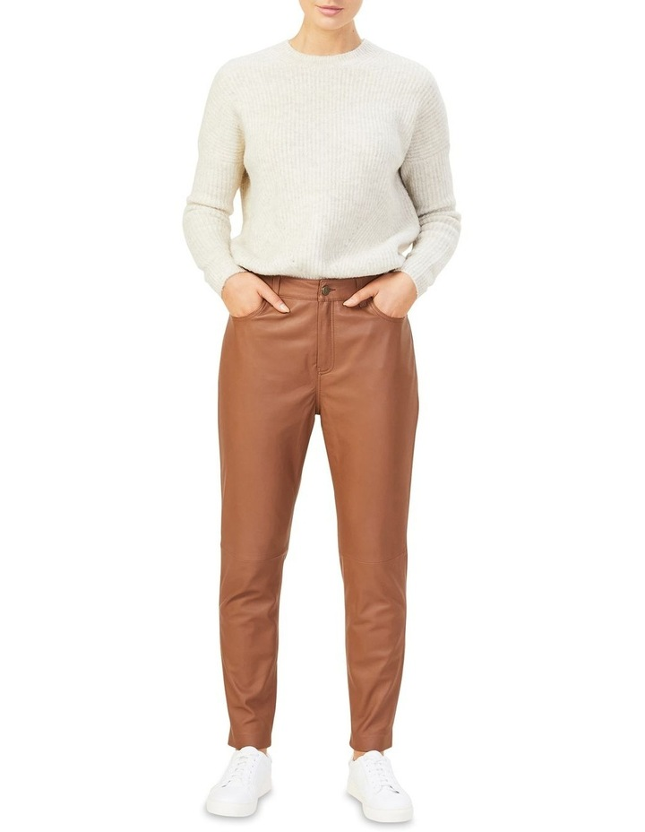 Leather High Rise Pant image 1