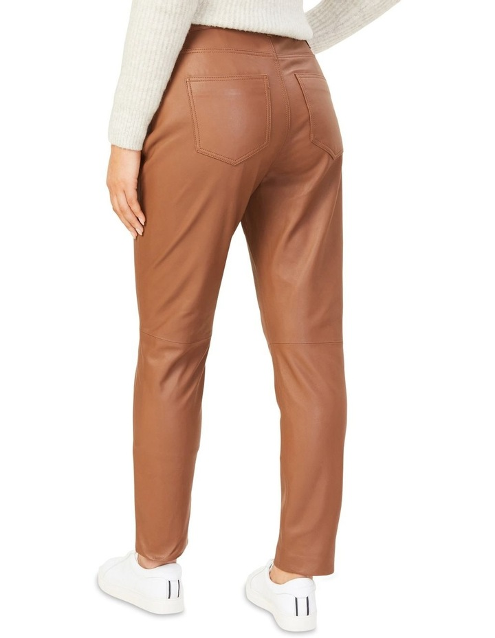 Leather High Rise Pant image 2
