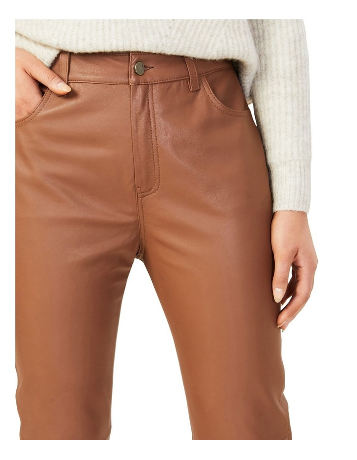Leather High Rise Pant image 3