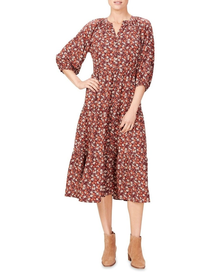 Seventies Floral Tiered Dress image 1