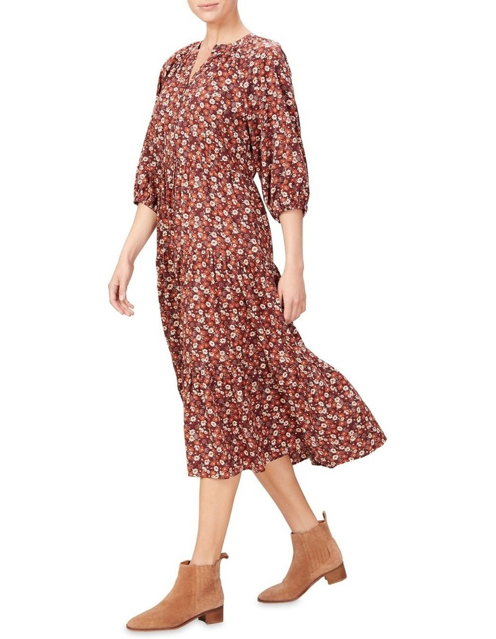 Seventies Floral Tiered Dress image 2