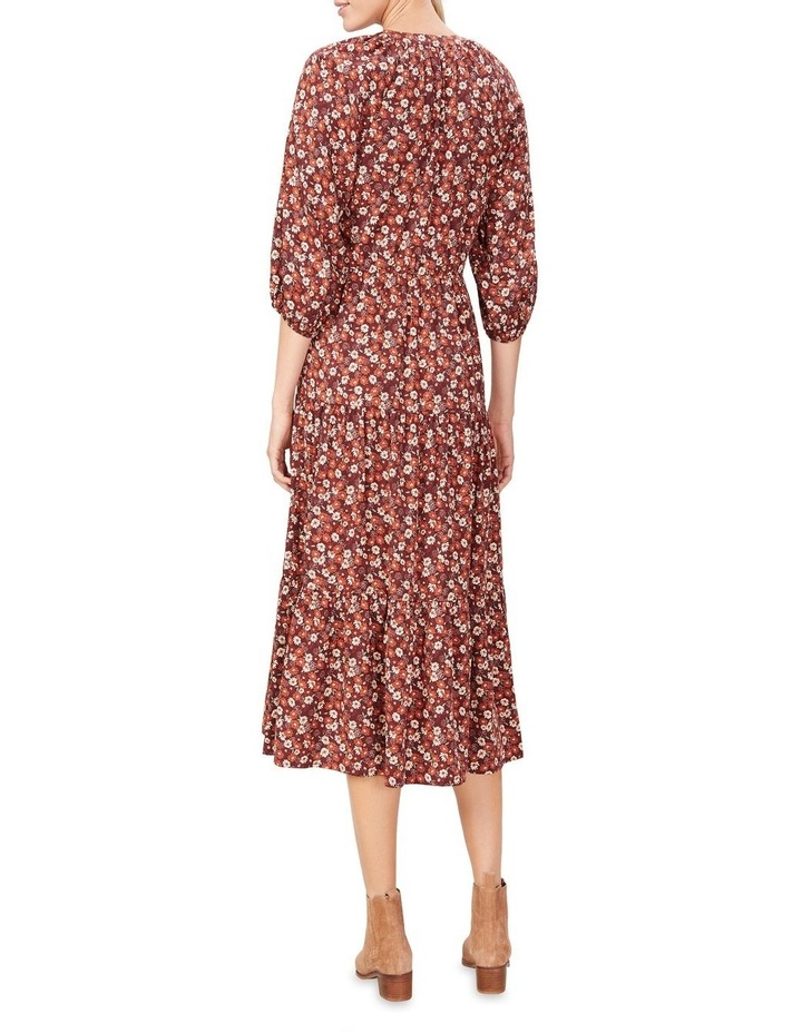 Seventies Floral Tiered Dress image 3