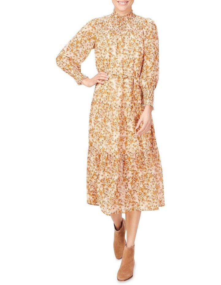 Shirred High Neck Dress image 1