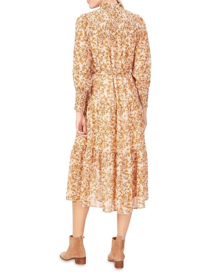 Shirred High Neck Dress image 3