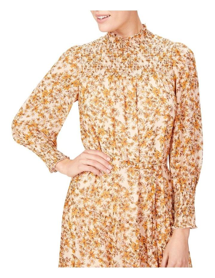Shirred High Neck Dress image 4