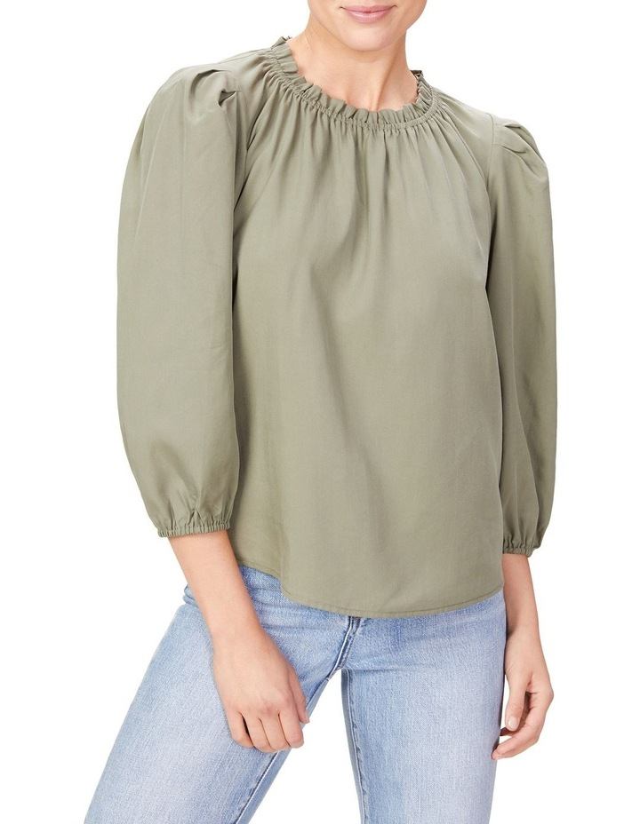 High Neck Frill Top image 1