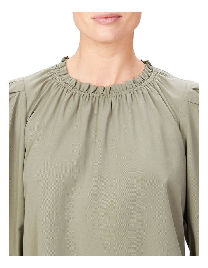 High Neck Frill Top image 4