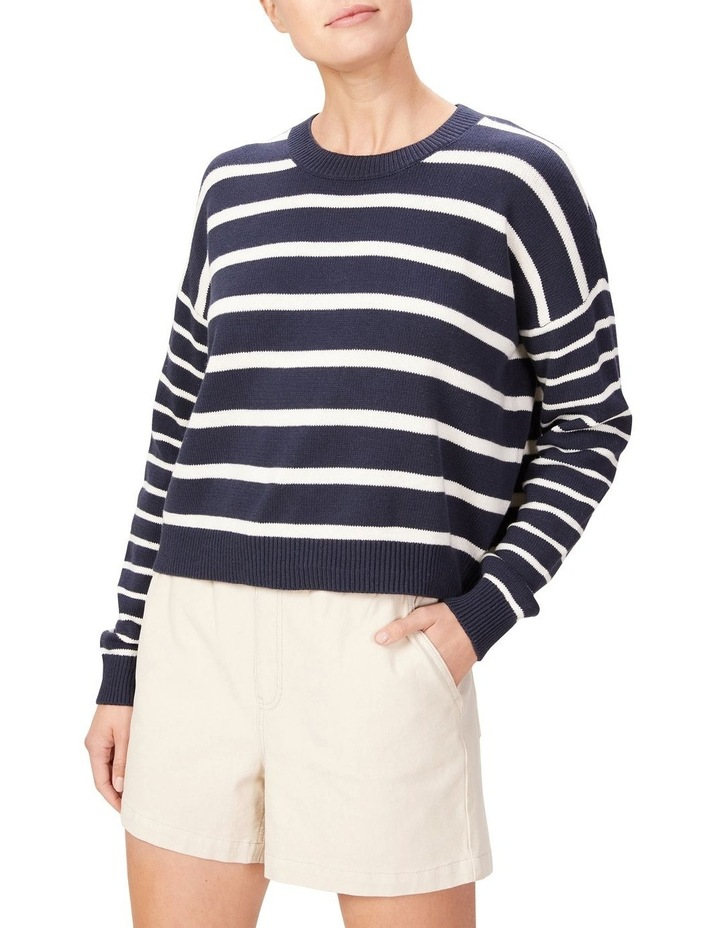 Stripe Pull Over Knit image 1