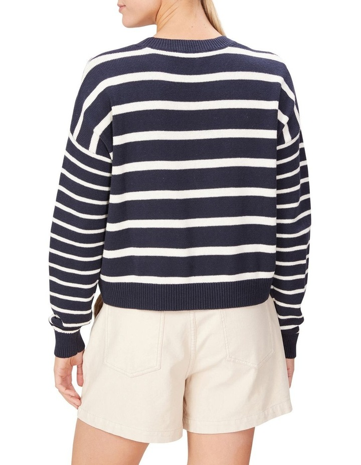 Stripe Pull Over Knit image 3