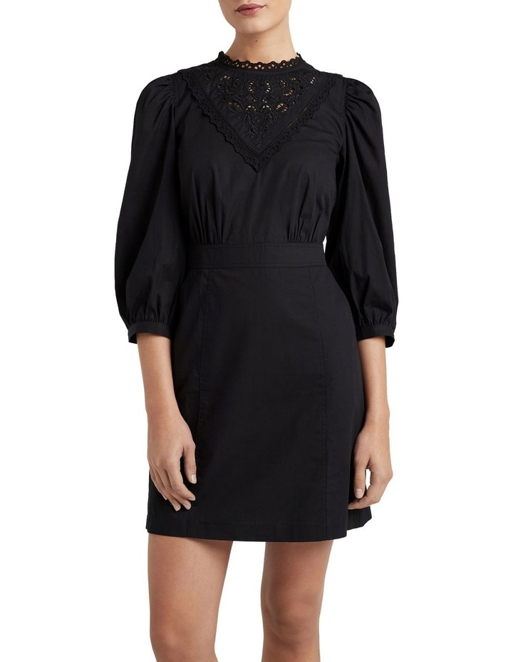 Broderie Puff Sleeve Dress image 1
