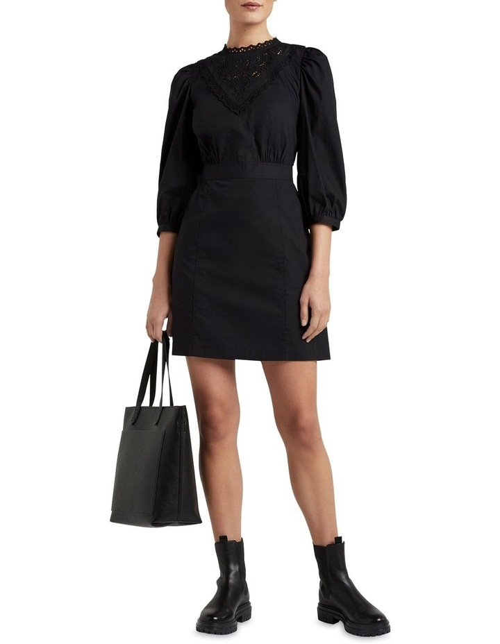 Broderie Puff Sleeve Dress image 4
