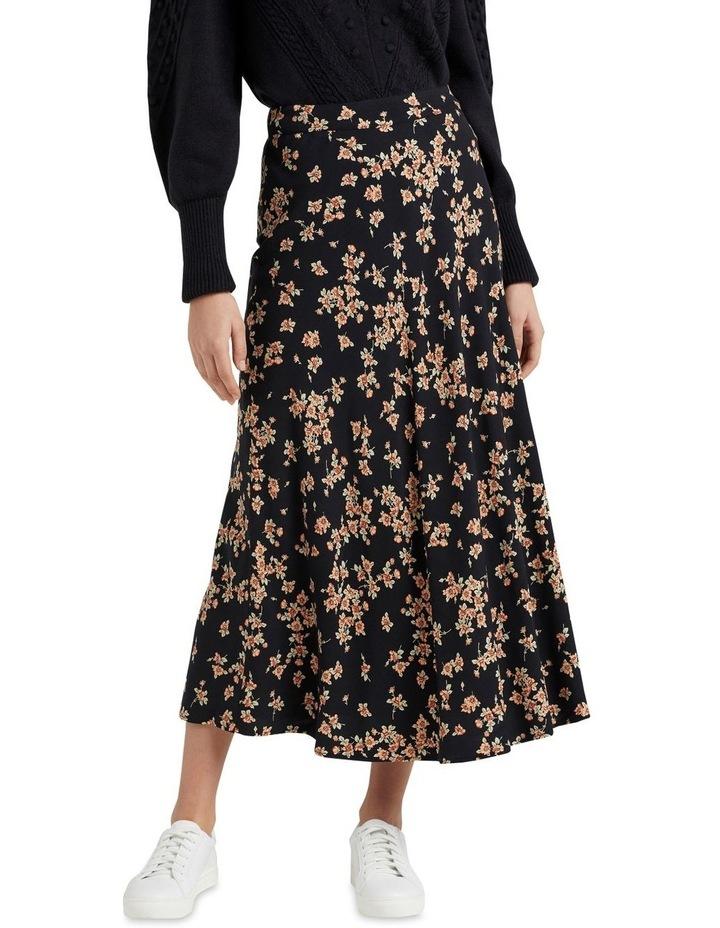 Vintage Floral Midi Skirt image 1