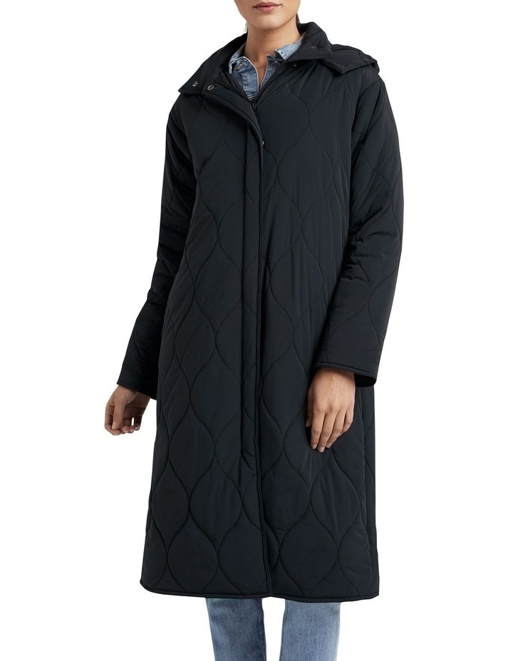 Relaxed Quilted Longline Jacket image 1