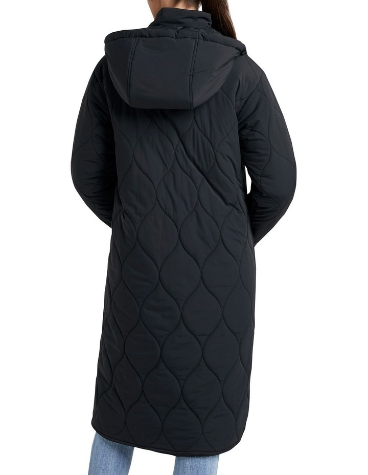Relaxed Quilted Longline Jacket image 2
