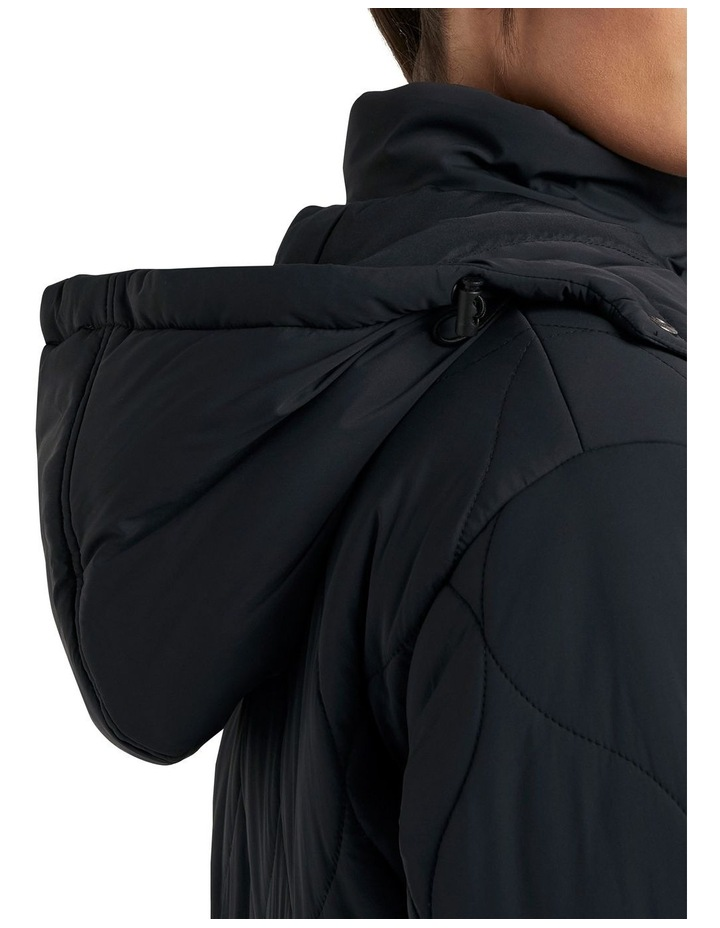 Relaxed Quilted Longline Jacket image 3