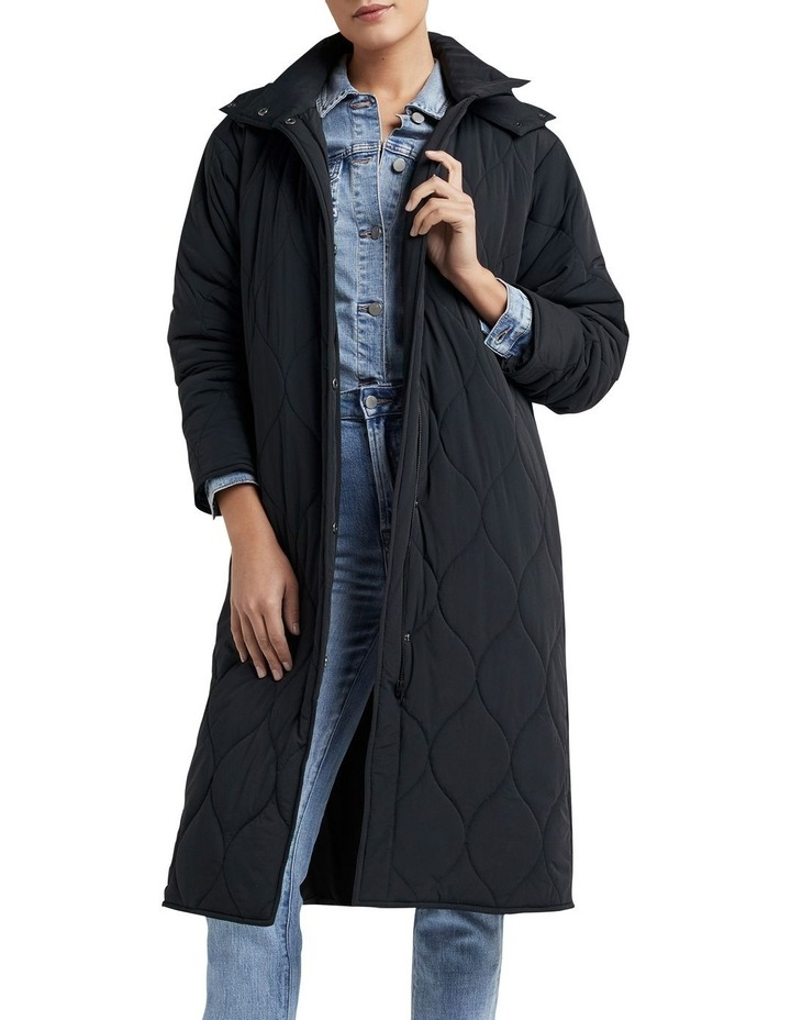 Relaxed Quilted Longline Jacket image 4