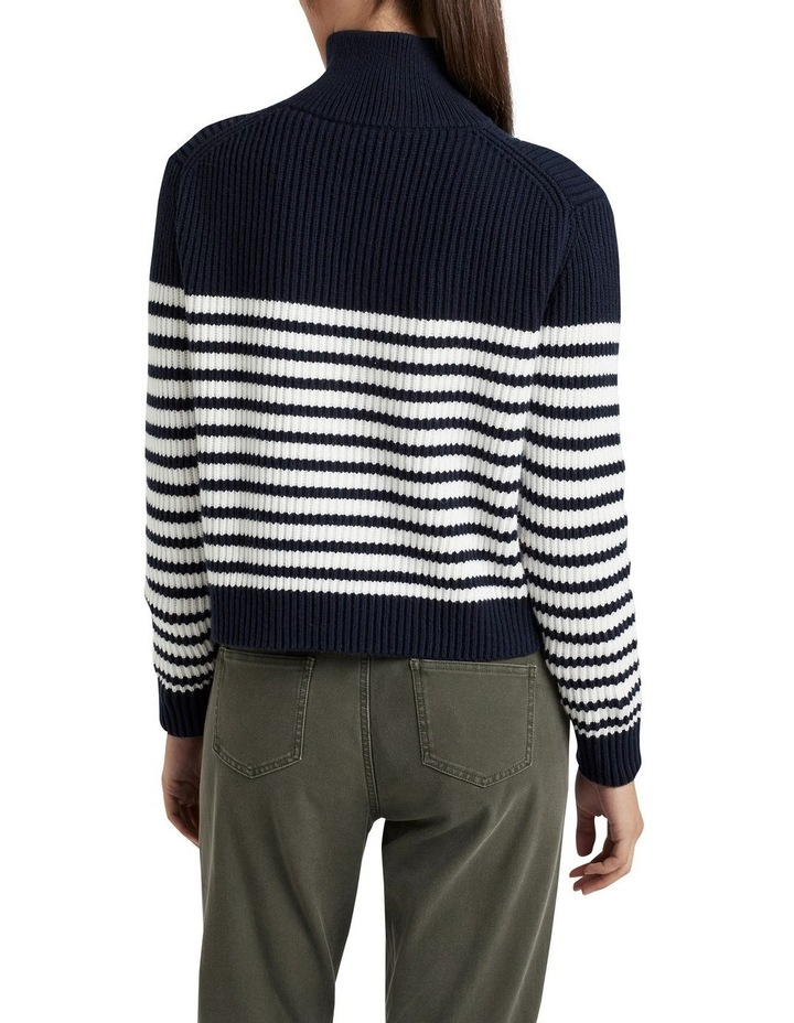 Half Zip Stripe Knit image 2