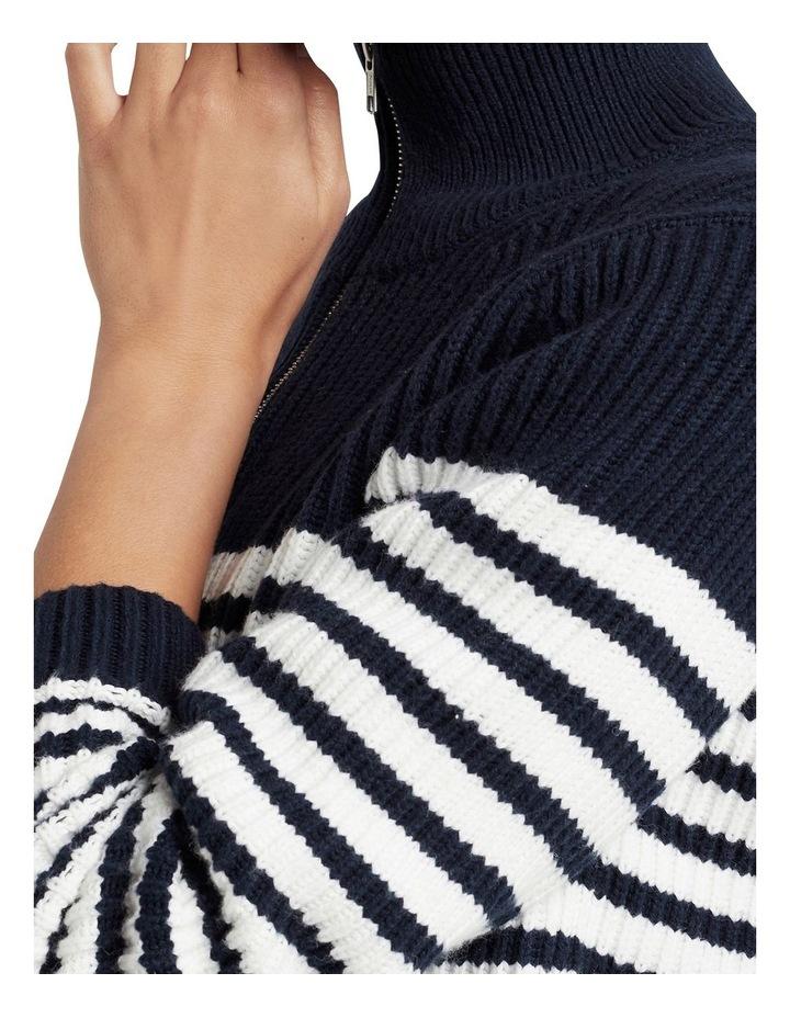 Half Zip Stripe Knit image 3