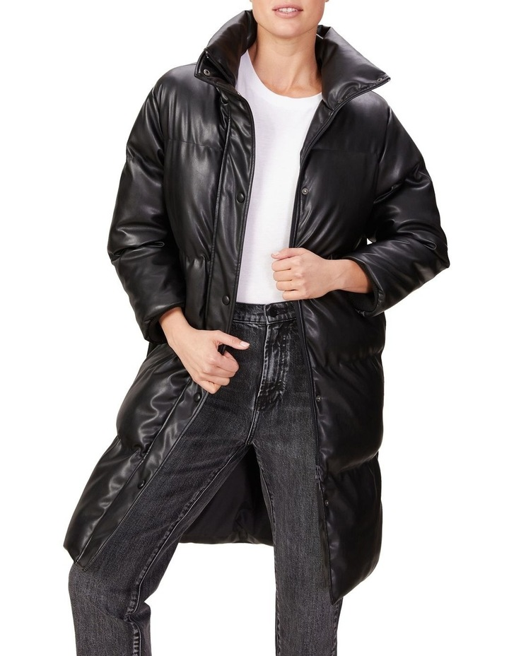 Leather Look Longline Puffer image 1
