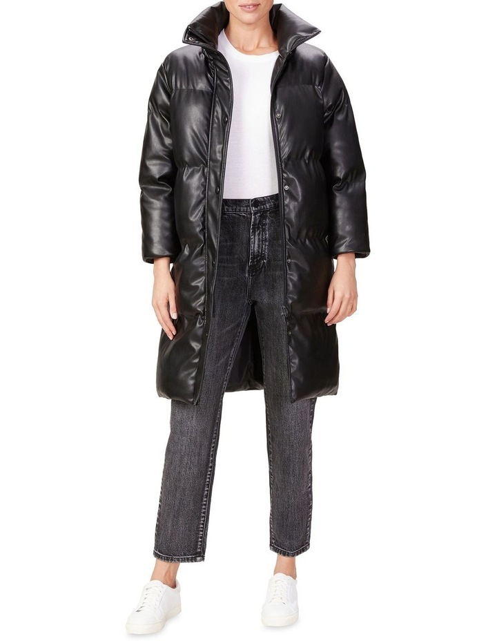 Leather Look Longline Puffer image 2