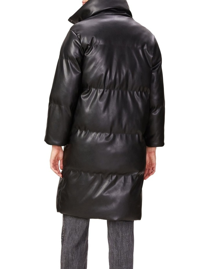 Leather Look Longline Puffer image 3