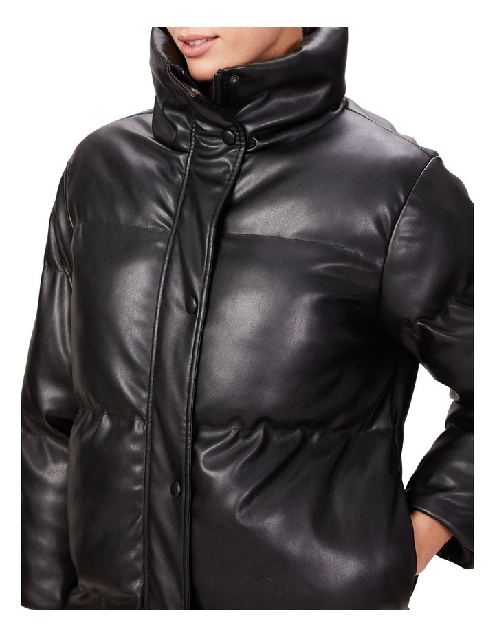 Leather Look Longline Puffer image 4