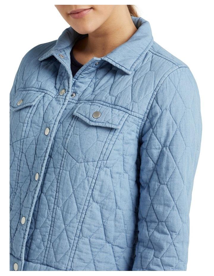Quilted Denim Jacket image 4