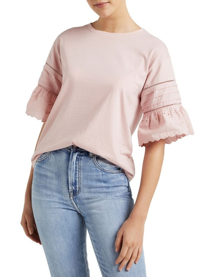 Broderie Sleeve T Shirt image 1