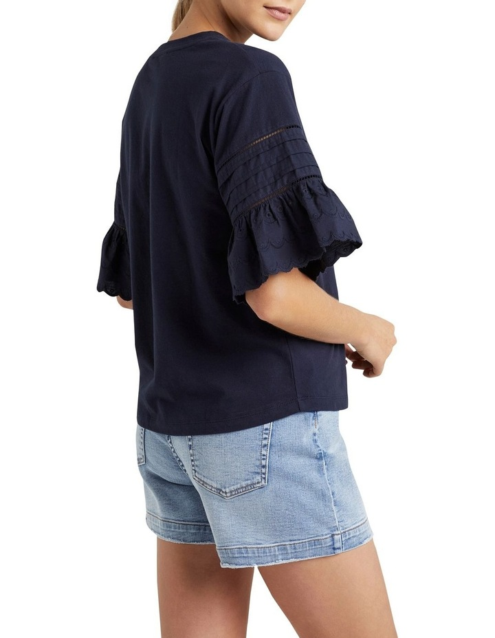 Broderie Sleeve T Shirt image 3