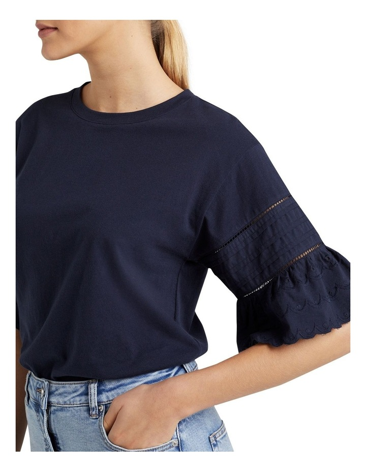Broderie Sleeve T Shirt image 4