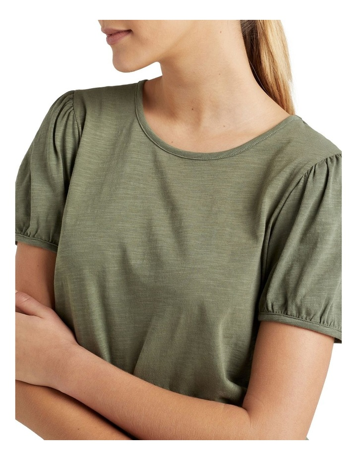 Organic Puff Sleeve T Shirt image 4