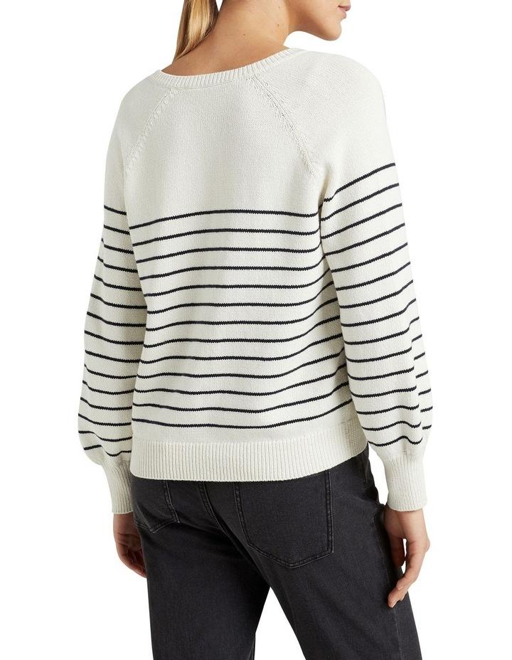 Stripe Button Through Knit image 3